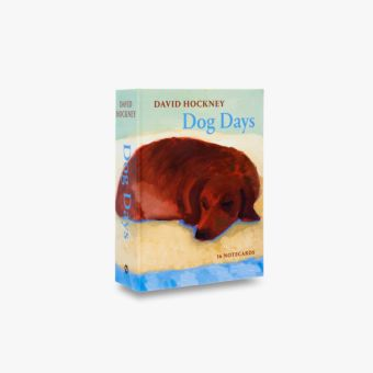 David Hockney Dog Days: Notecards